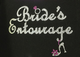 Bride's Entourage Wedding Marriage Rhinestone Transfer