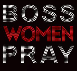 BOSS WOMEN PRAY Red Religious Rhinestone Transfer