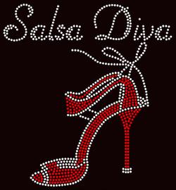Salsa Diva Heel Stiletto Rhinestone Transfer