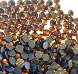 Brown Dark (COFFEE) 3mm 10ss 2cut Premium Quality Loose Hotfix Rhinestone