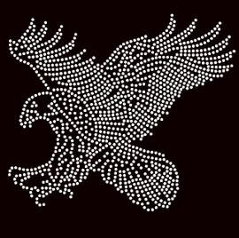 Eagle Attacks Rhinestone Transfer