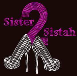 Sister2Sistah Heels Sister to sistah Rhinestone transfer