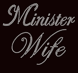 Minister Wife Clear Rhinestone Transfer