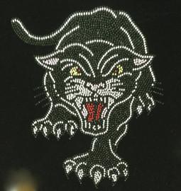 Black Panther Roar Rhinestone Transfer Iron On