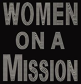 Women on a Mission Rhinestone Transfer