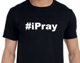 #iPray (Text) Vinyl Transfer (White)