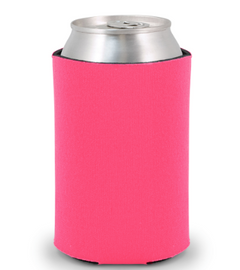 Hot Pink - Plain Koozie or Can cooler