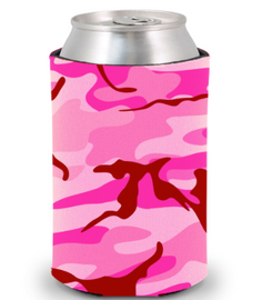 Camouflage Pink - Plain Koozie or Can cooler
