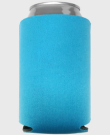 Neon Blue - Plain Koozie or Can cooler