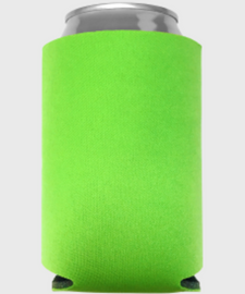 Neon Green - Plain Koozie or Can cooler