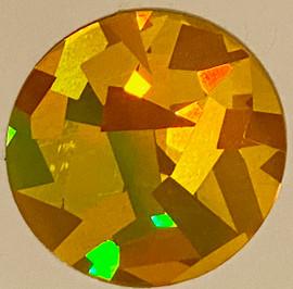 Crystal Gold big flakes - Hologram Vinyl Sheet