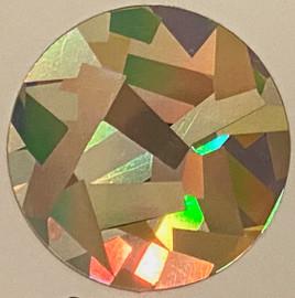 Crystal Silver big flakes Hologram Vinyl Sheet