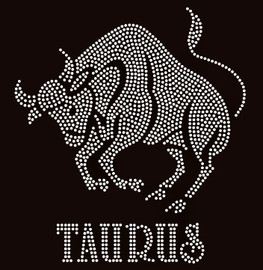 Taurus Zodiac Horoscope Astrology sign Rhinestone Transfer