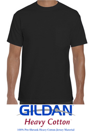 (Unisex) T-shirt Gildan® Heavy Cotton™ 100% cotton (Black)