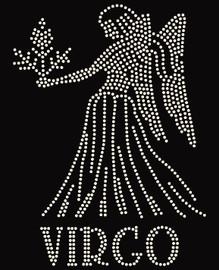 Virgo Zodiac Horoscope Astrology sign Rhinestone Transfer