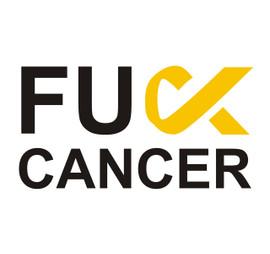 F*ck Cancer awareness (Text) Vinyl Transfer (Black & Gold)