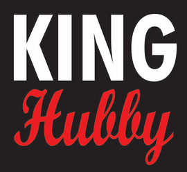 King Hubby Vinyl Transfer (White & Red)