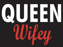 Queen Wifey Vinyl Transfer (White & Red)