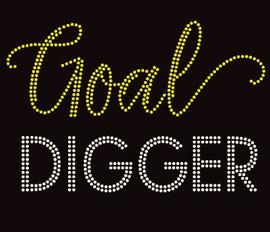 Goal Digger (Text) Rhinestone Transfer
