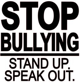 Stop Bullying Stand up Speak out. Vinyl Transfer (Black)