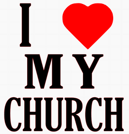 I Love my Church Religious Vinyl Transfer (Black & Red)