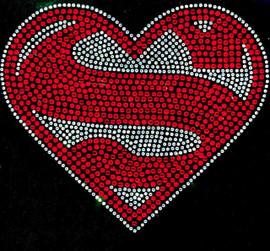Super heart shape Rhinestone transfer iron on