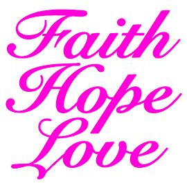Faith Hope Love Ariel text Vinyl Transfer