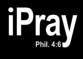 iPray (Phil 4:6) Vinyl Transfer