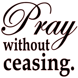 Pray without Ceasing Vinyl Transfer (Black)