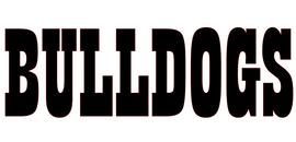 Bulldogs Mascot Vinyl Transfer (Black)