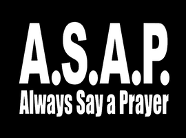 ASAP Always Say a Prayer Religious Vinyl Transfer