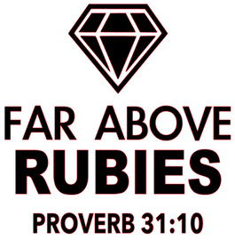 Far Above Rubies Diamond Vinyl Transfer (Black)