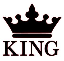 ( King Crown Vinyl Transfer (Black)