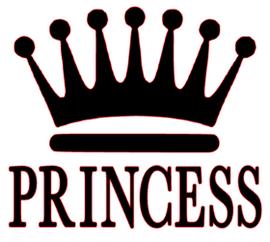 Princess Crown Vinyl Transfer (Black)