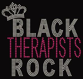 Black Therapist Rock Rhinestone Transfer