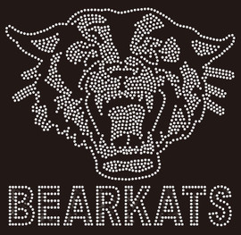 Bearkats with Bear Face (Clear) - Custom Rhinestone transfer