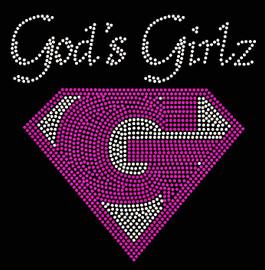 (New) God's Girlz Custom Order Religious Rhinestone Transfer