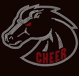 Cheer Horse custom order Rhinestone Transfer