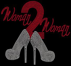 (Red) Woman 2 Woman Heels Woman to Woman Rhinestone transfer