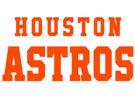 Houston Astros (Orange) Vinyl Transfer