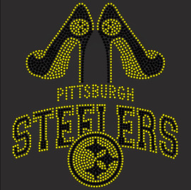 Pittsburgh Steelers Heels Custom Rhinestone Transfer