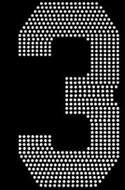 "8"" Sports number (3) Rhinestone Transfer"