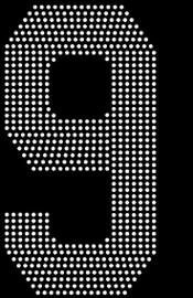 "8"" Sports number (9) Rhinestone Transfer"