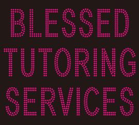 Blessed Tutoring Services Rhinestone Transfer