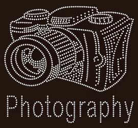 Photography Camera custom Rhinestone Transfer