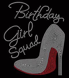 Birthday Girl Squad Heel Rhinestone Transfer