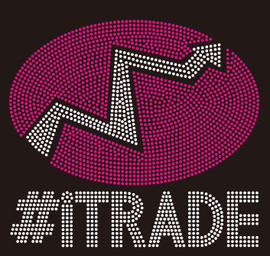 #Itrade text Rhinestone Transfer