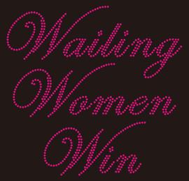 Wailing Women Win Custom Rhinestone Transfer