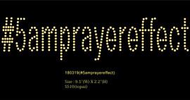 #5amprayereffect (Text) Religious Rhinestone Transfer