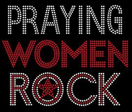 Praying Women Rock (Text) Rhinestone Transfer
